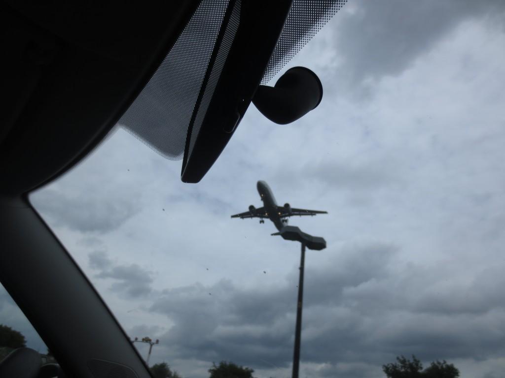 Plane approaching Tegel