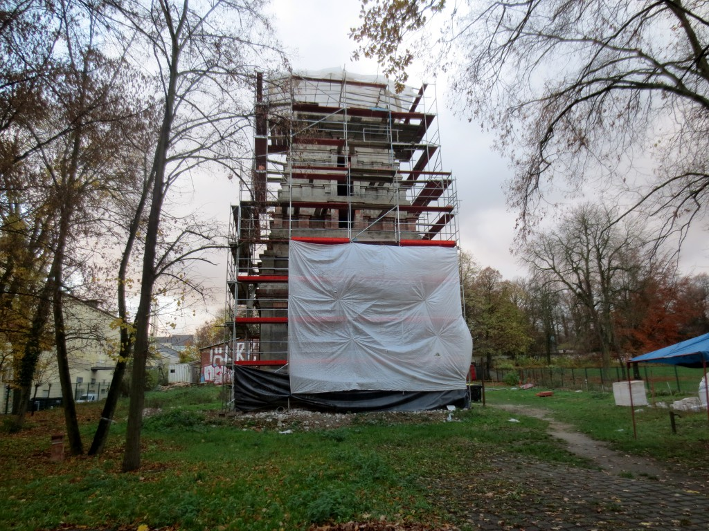Temple being reconstructed Hasenheide Berlin