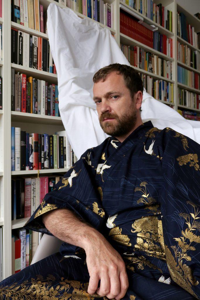 The Writer Lars Guthorm Kavli in his favourite Yukata (kimono)
