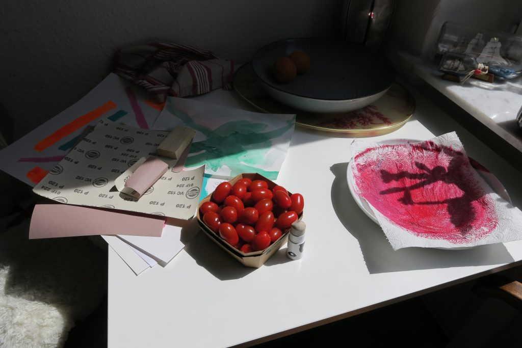 Tomatoes, cactus and sandpaper